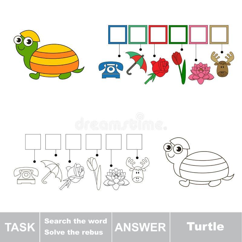 Het woord zoek Vind verborgen woordschildpad vector illustratie