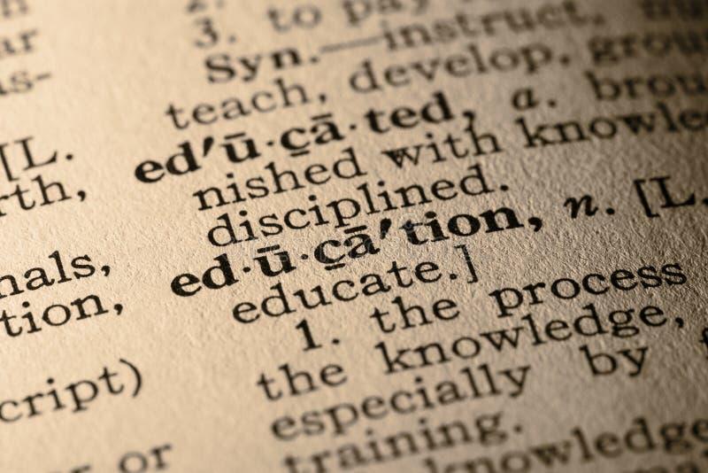Het woordonderwijs royalty-vrije stock afbeelding
