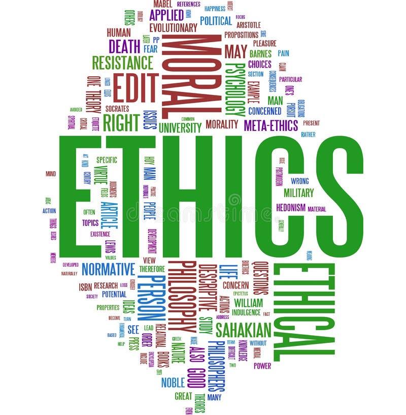 Het woordwolk van de ethiek vector illustratie