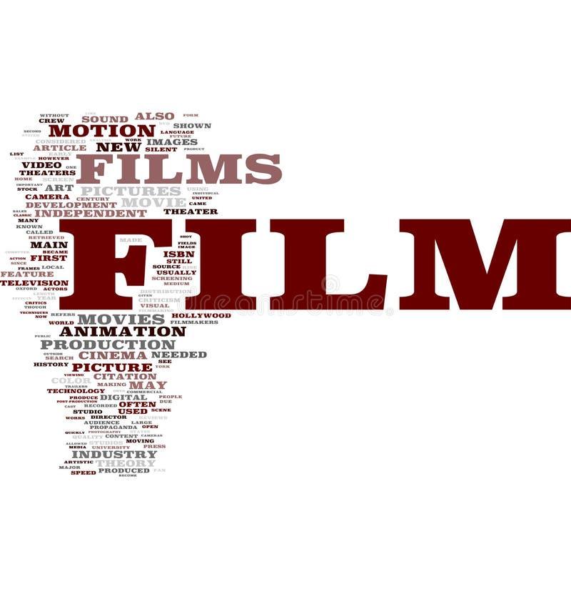Het woordwolk van de film royalty-vrije illustratie