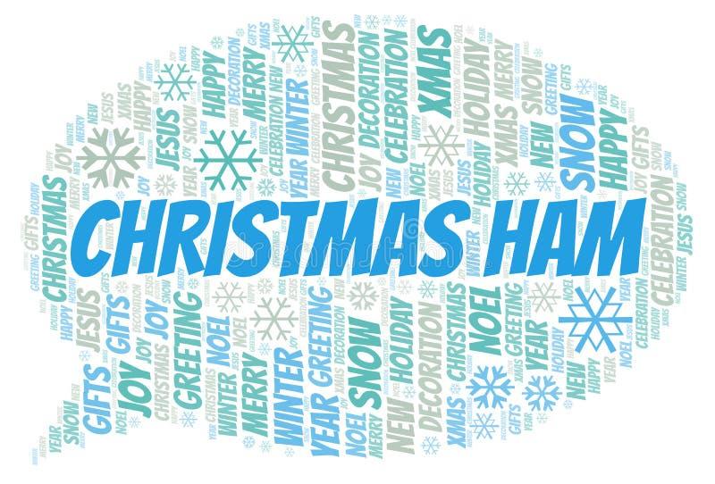 Het woordwolk van de Kerstmisham royalty-vrije illustratie