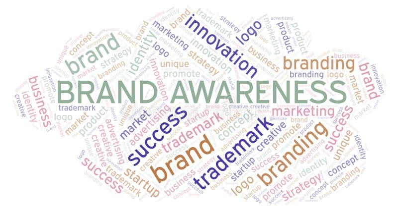 Het woordwolk van de merkvoorlichting stock illustratie