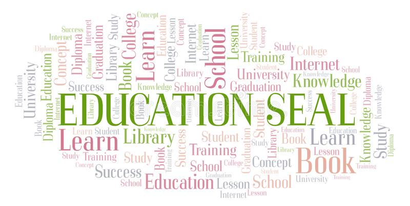 Het woordwolk van de onderwijsverbinding stock illustratie