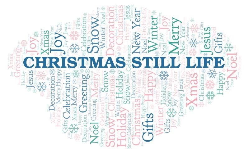 Het woordwolk van het Kerstmisstilleven stock illustratie