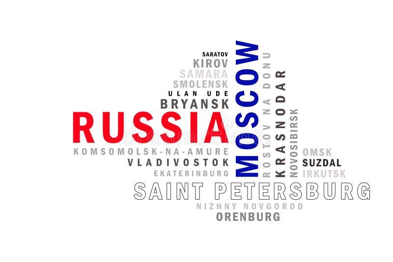 Het woordwolk van Rusland royalty-vrije illustratie