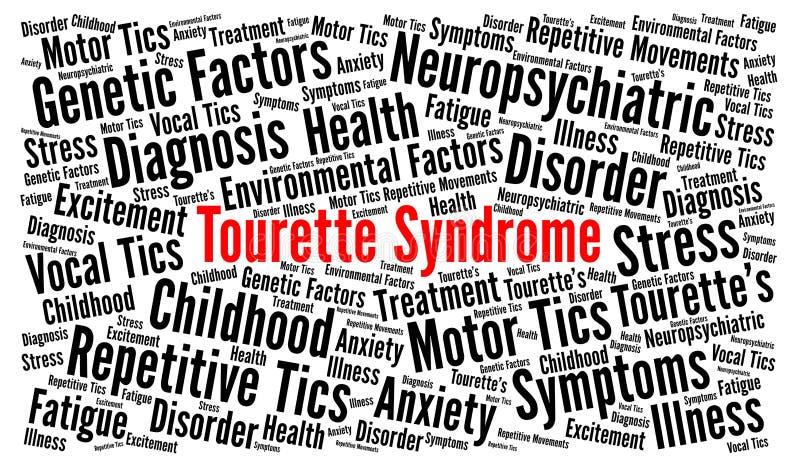 Het woordwolk van het Tourettesyndroom royalty-vrije illustratie