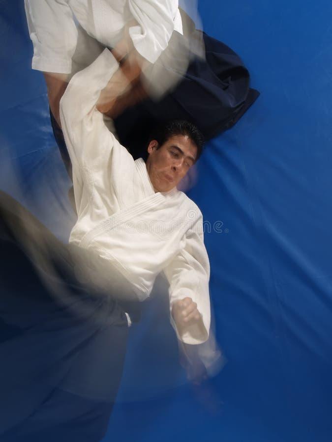 Het worstelen van Aikido stock foto
