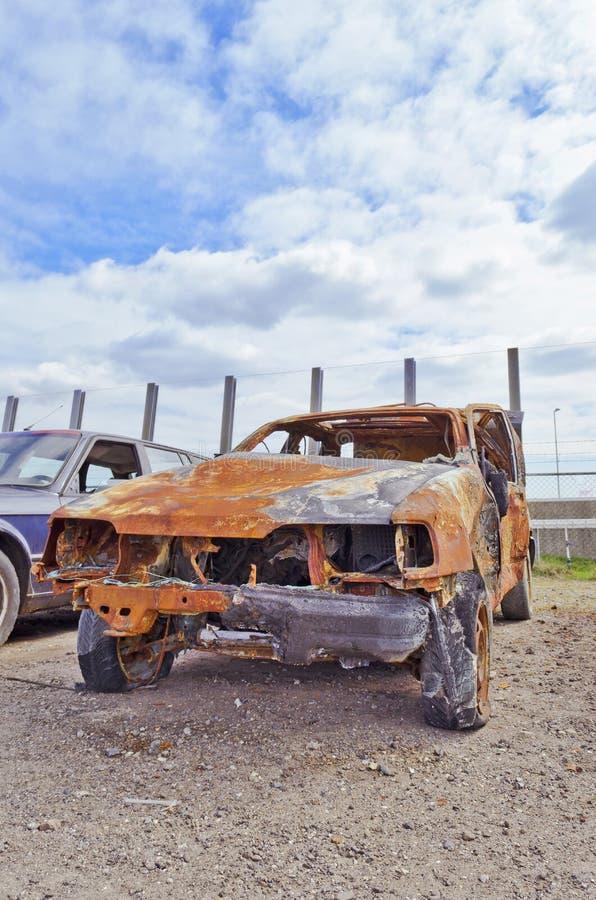 Het wrak van de auto stock fotografie