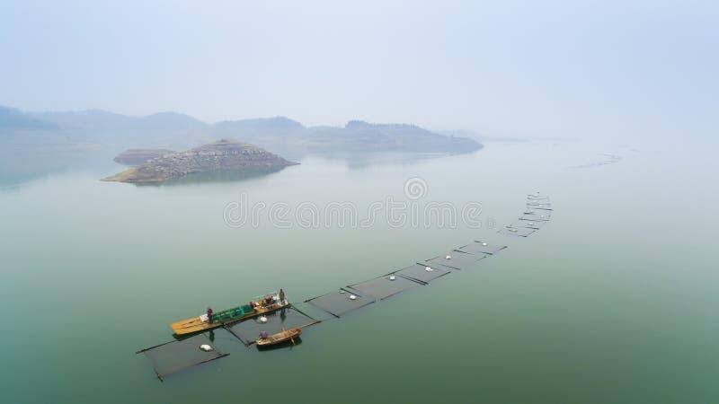 Het Xiaolangdi-Damreservoir royalty-vrije stock foto
