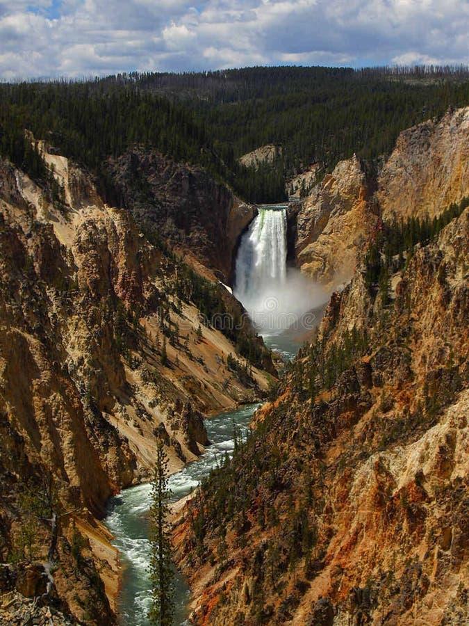 Het Yellowstonepark vermindert Dalingen stock foto's