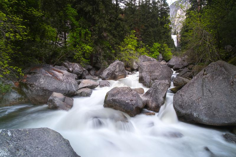 Is het Yosemite Nationale Park een nationaal park van Verenigde Staten stock foto