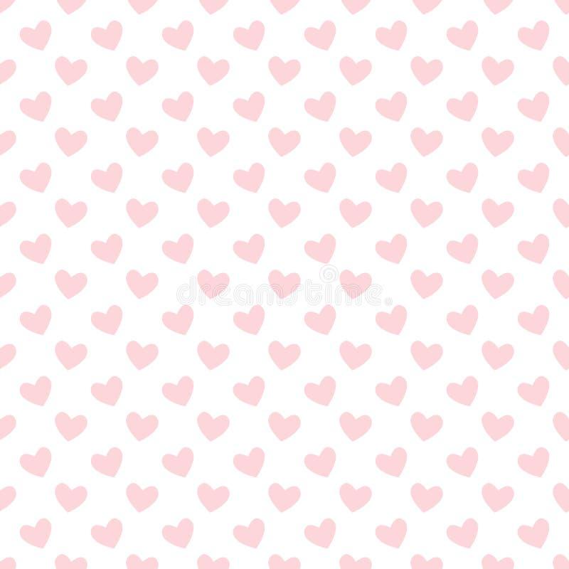 Download Het Zachte Naadloze Patroon Van Het Pastelkleur Roze Hart Vector Illustratie - Illustratie bestaande uit textuur, valentine: 107703183