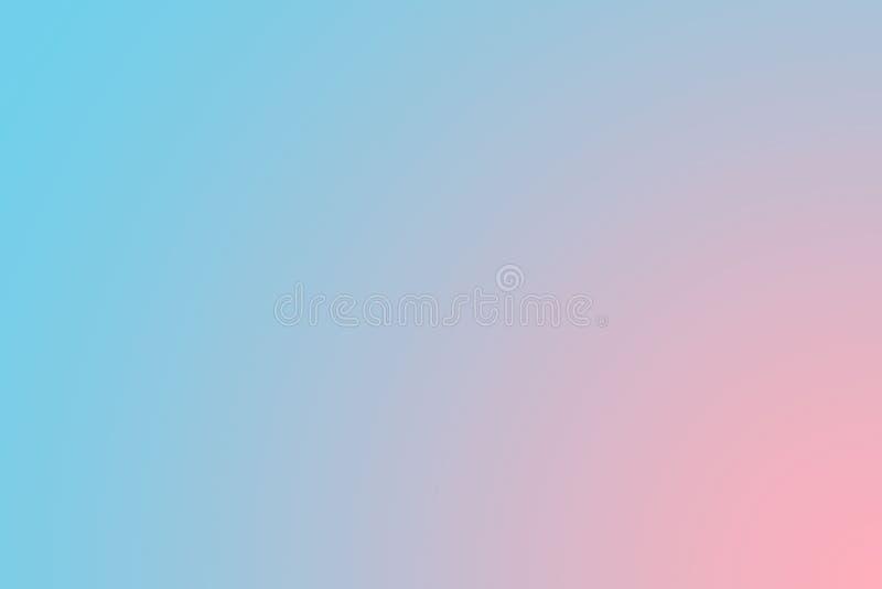 Het zachte snoepje vertroebelde blauwe en roze pastelkleurachtergrond Het abstracte behang van de gradiëntdesktop vector illustratie