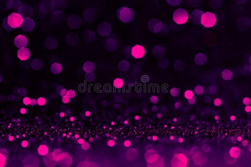 Het zachte ultraviolet van beeld abstracte bokeh, purpere, roze kleur met lichte achtergrond Ultraviolette nacht lichte elegantie royalty-vrije stock afbeeldingen