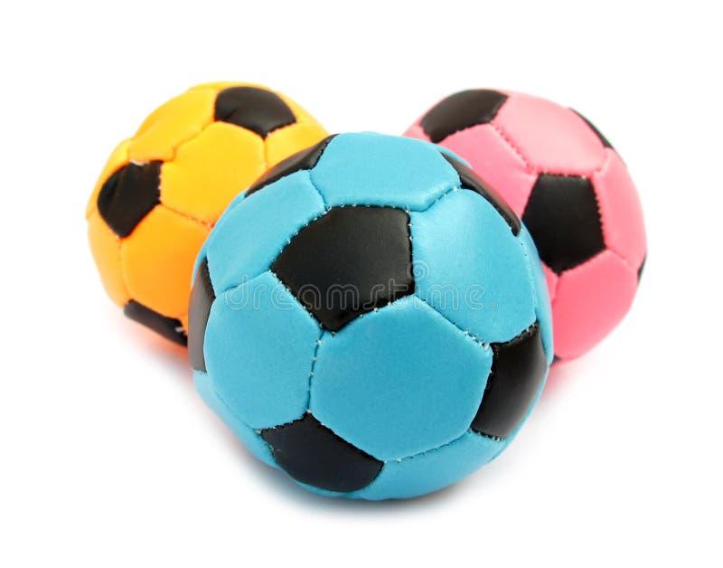Het zachte voetbal van ballen voor binnen spelen stock afbeeldingen