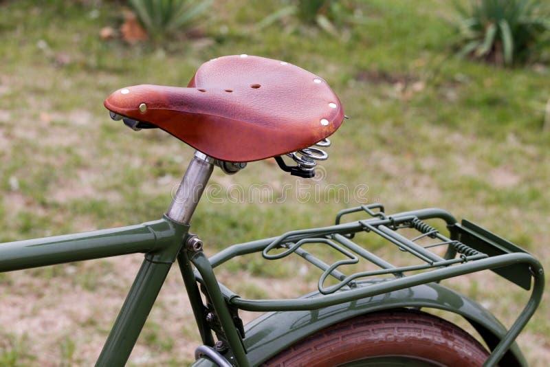Het zadel van de fiets stock afbeelding