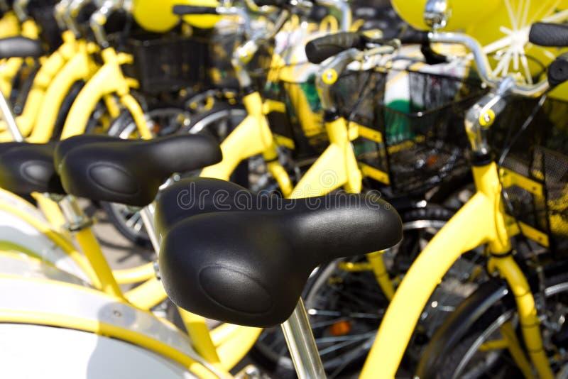 Het zadel van de fiets royalty-vrije stock fotografie