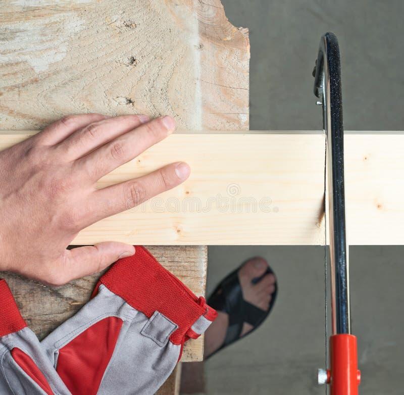 Het zagen houten raadssamenstelling royalty-vrije stock fotografie