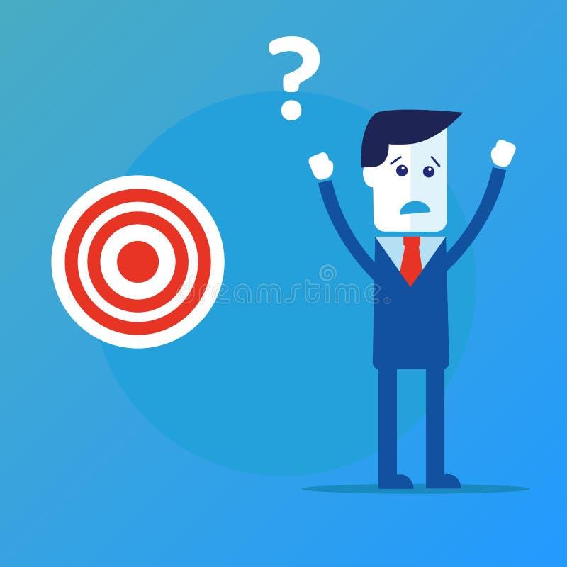 Het zakenmanconcept vindt doel vector illustratie