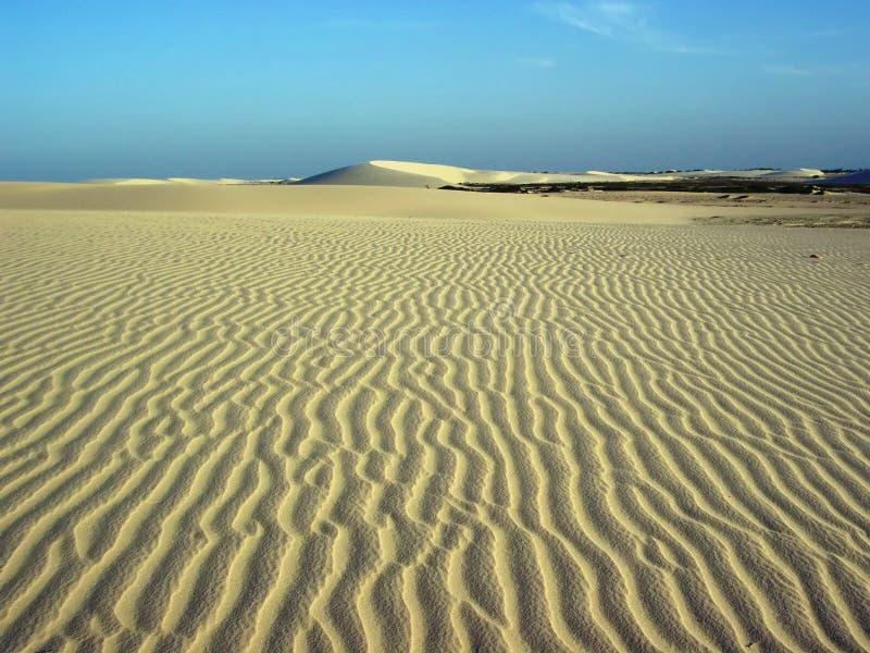 Het zand van de wind royalty-vrije stock afbeelding