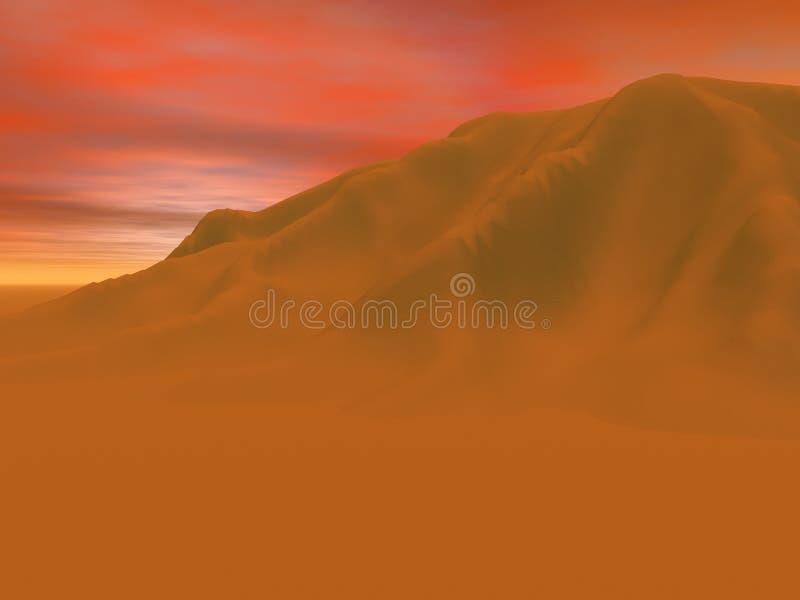 Het Zand van de woestijn stock illustratie