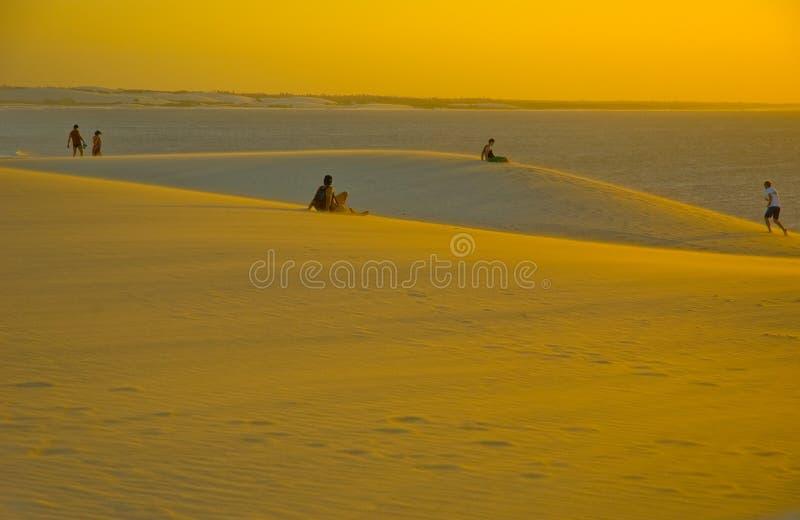 Het zandduinen van Jericoacoara stock foto's