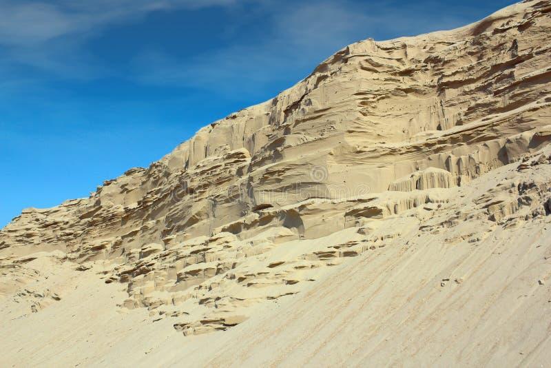 Het zandheuvel van de woestijn stock afbeeldingen