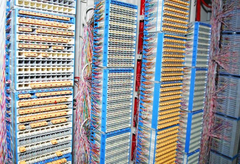 Het zandpaneel van de kabel stock afbeelding