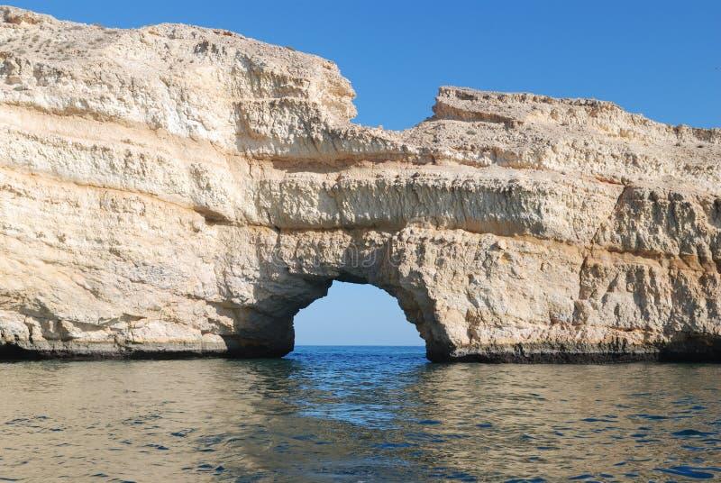 Het zandsteen van Oman stock fotografie