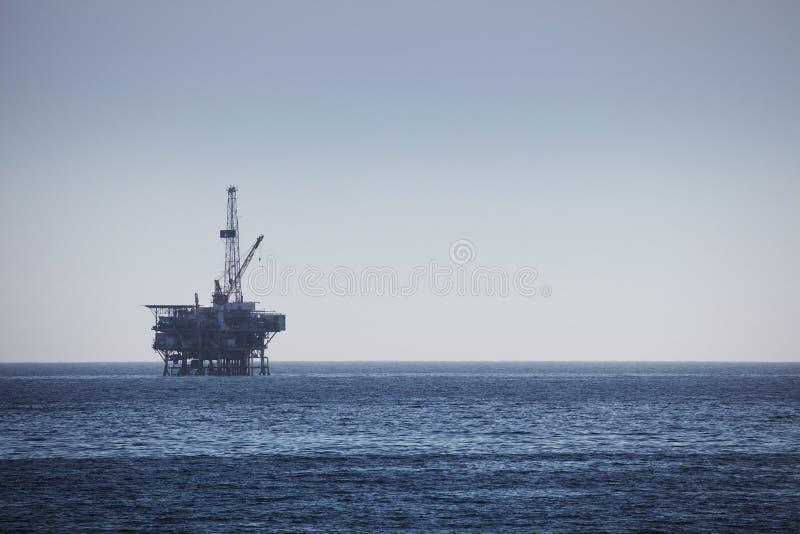 Het zee Platform van de Boring van het Booreiland stock afbeeldingen