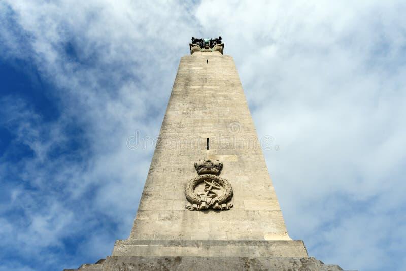 Het Zeegedenkteken van Plymouth, de Commissie van de Oorlogsgraven van de Commonwealth, Plymouth-Schoffel, Devon, het Verenigd Ko stock afbeeldingen