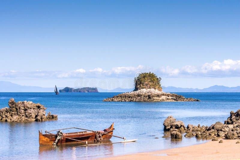 Het zeegezicht dichtbij Bemoeiziek is eiland royalty-vrije stock foto
