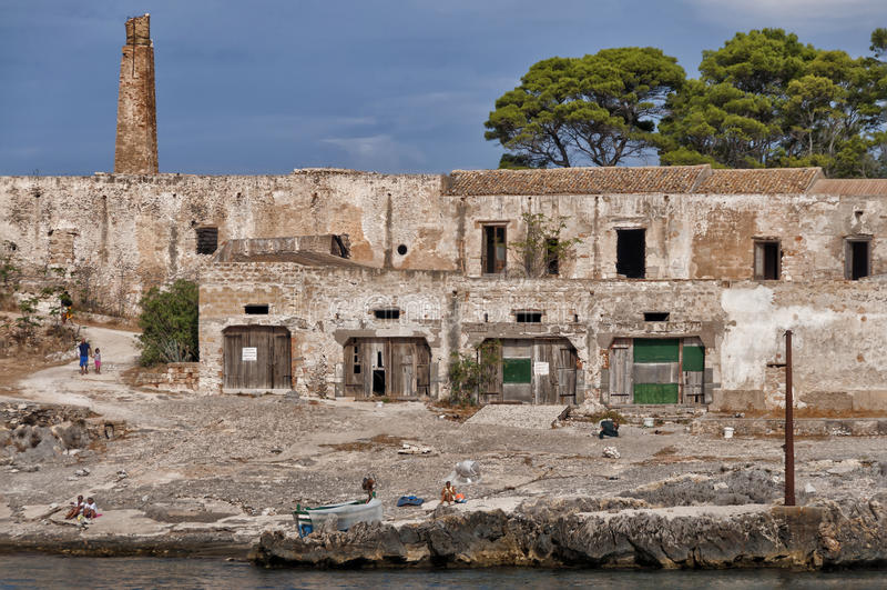 Het zeegezicht van Sicilië, Tonnara del Secco royalty-vrije stock fotografie