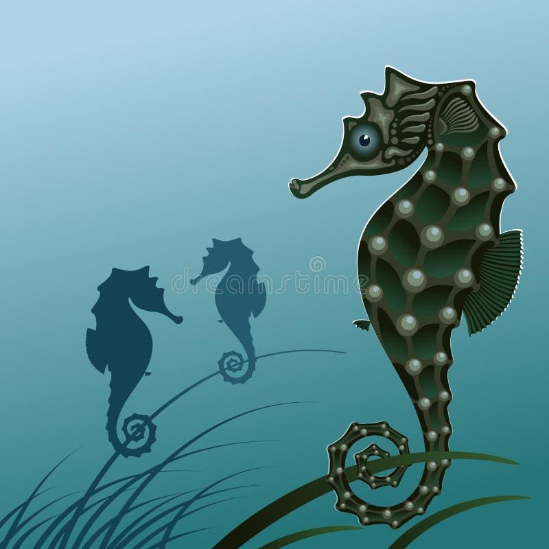 Het zeepaardje van vissen. royalty-vrije illustratie