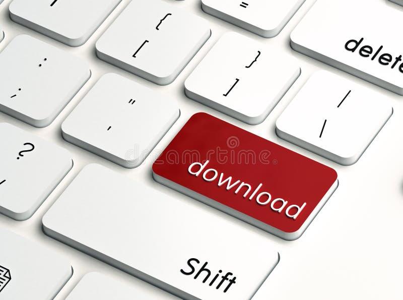 Het zeer belangrijke rood van de download vector illustratie