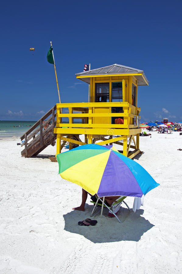 Het Zeer belangrijke Strand van de siësta, Florida royalty-vrije stock foto's