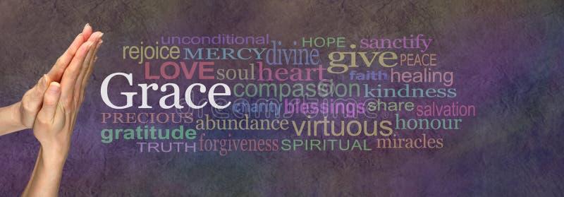 Het zeggen van Grace Prayer Hands stock fotografie