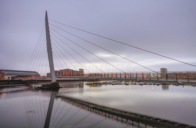Het Zeilbrug en Jachthaven van Swansea royalty-vrije stock afbeelding