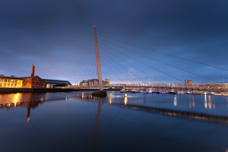 Het Zeilbrug van Swansea royalty-vrije stock fotografie