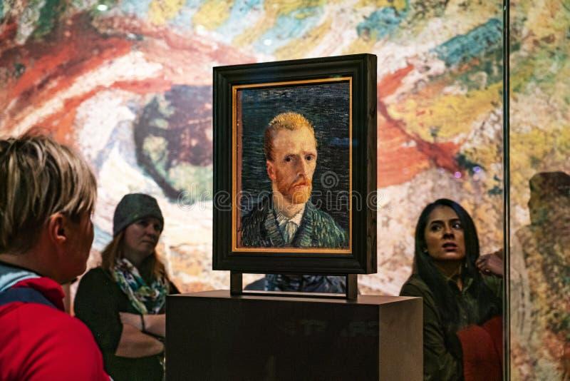 Het zelf-portret van Amsterdam Van Gogh Museum van de kunstenaar royalty-vrije stock foto's