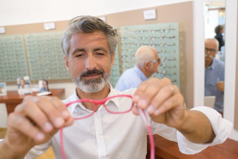 Het zicht van gezondheidszorgmensen en visieconcept royalty-vrije stock foto
