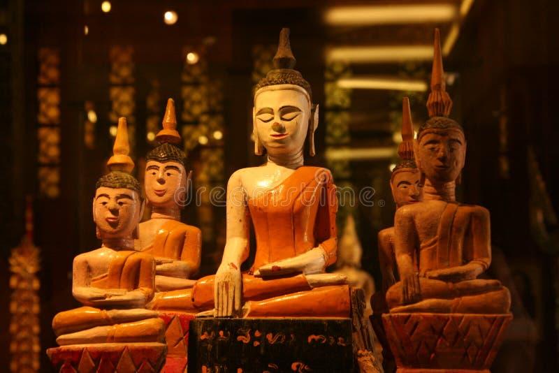 Het zicht van het standbeeld van Boedha stock afbeelding