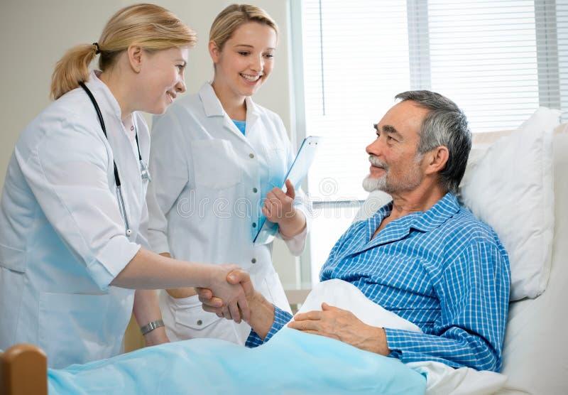 In het ziekenhuis stock foto