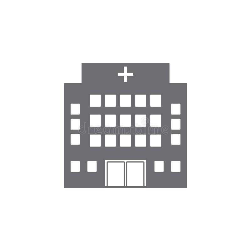 Het ziekenhuis de bouwpictogram Eenvoudige elementenillustratie het ziekenhuis het ontwerpmalplaatje van het de bouwsymbool Kan v stock illustratie