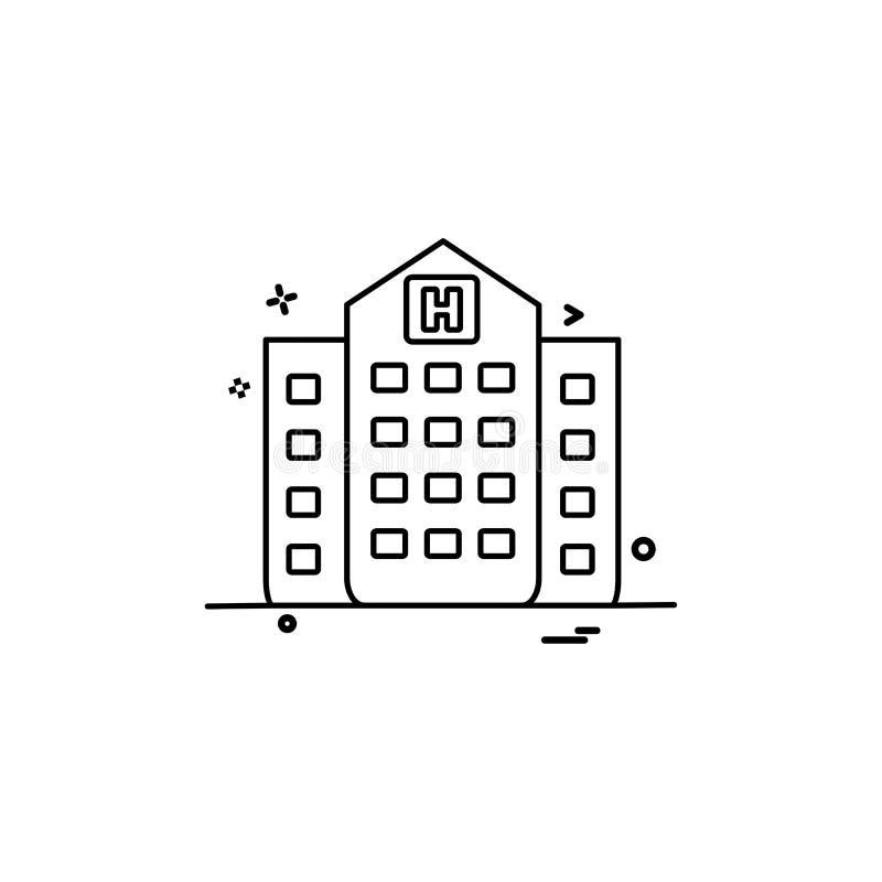 het ziekenhuis die medisch pictogram vectorontwerp bouwen stock illustratie