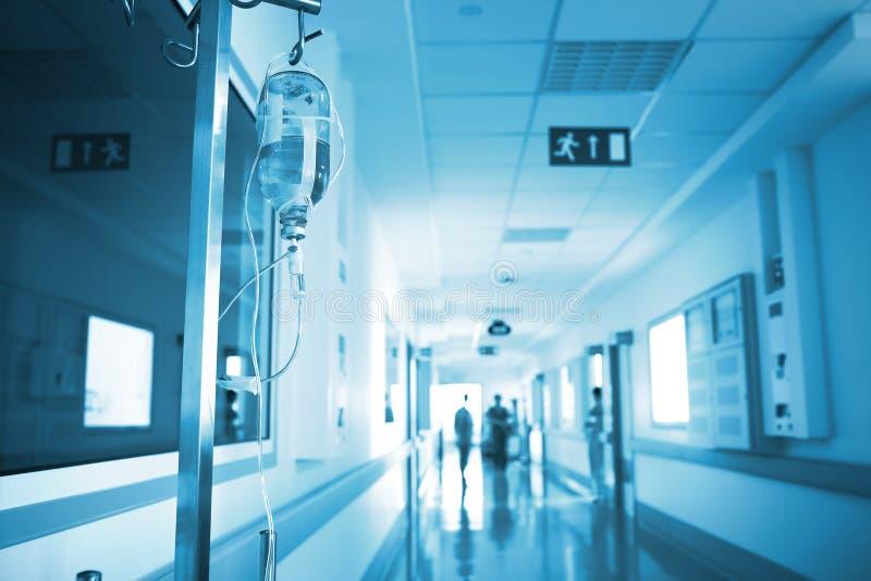 Het ziekenhuis door de ogen van patiënt stock afbeeldingen