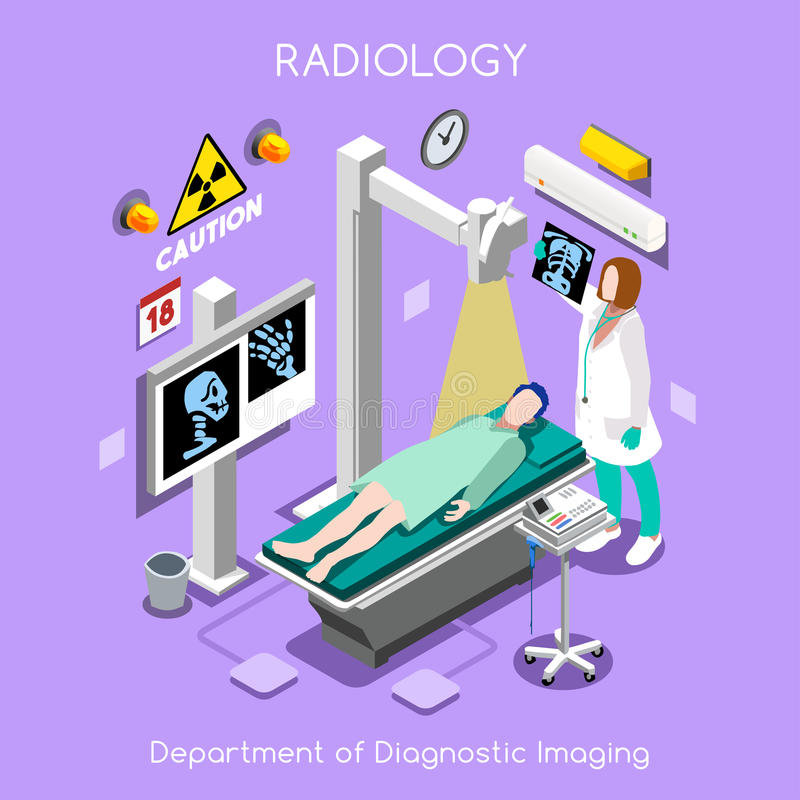 Het ziekenhuis 02 Isometrische Mensen vector illustratie