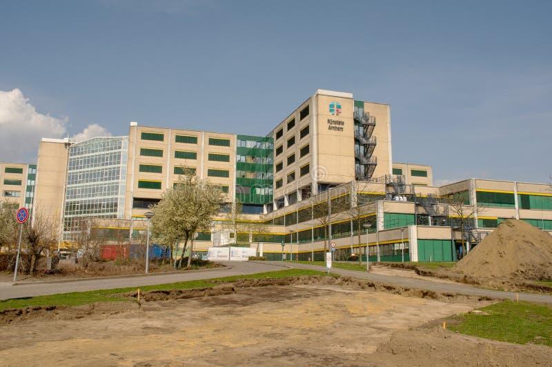 Het ziekenhuis Rijnstate in Arnhem, Nederland stock foto's
