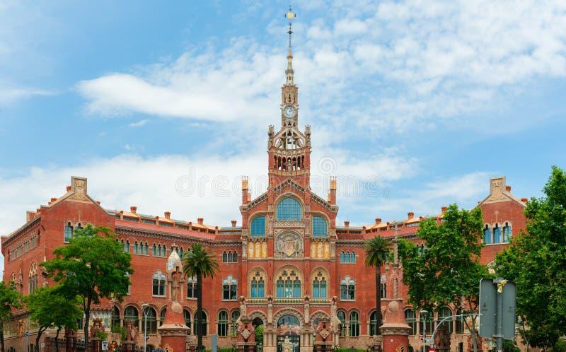 Het ziekenhuis San Pau in Barcelona Moderne architectuurstijl stock afbeeldingen