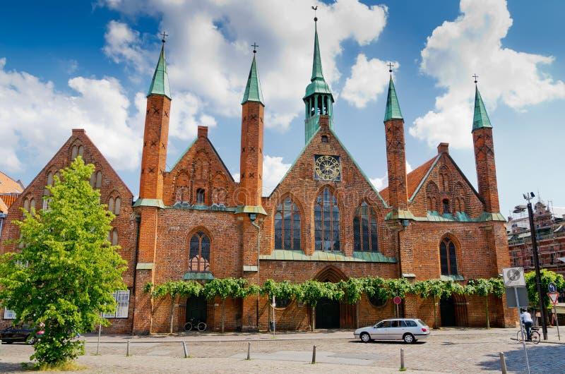 Het Ziekenhuis van de Heilige Geest. Lübeck. Duitsland royalty-vrije stock afbeelding